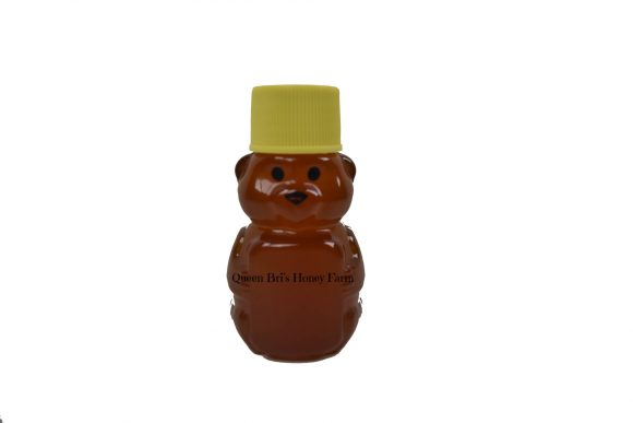 Wildflower - 2 Oz Honey Bear - Watermark - Queen Bris Honey