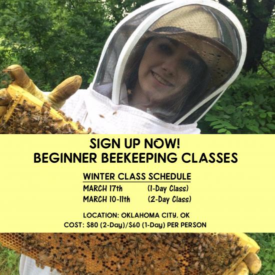 Beginner Beekeeping Class OKC - Oklahoma City - March 2018