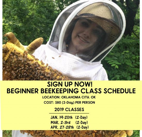 Beginner Beekeeping Class - 2018-2019 - Class Schedule