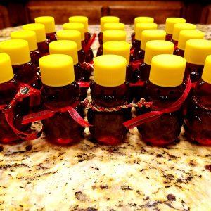 2 ounce honey bears with christmas scarves