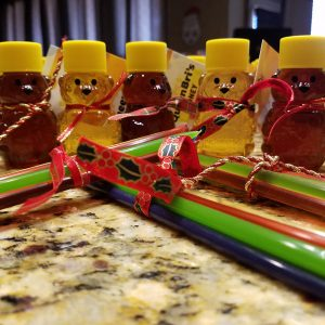 2 ounce honey bears with honey sticks