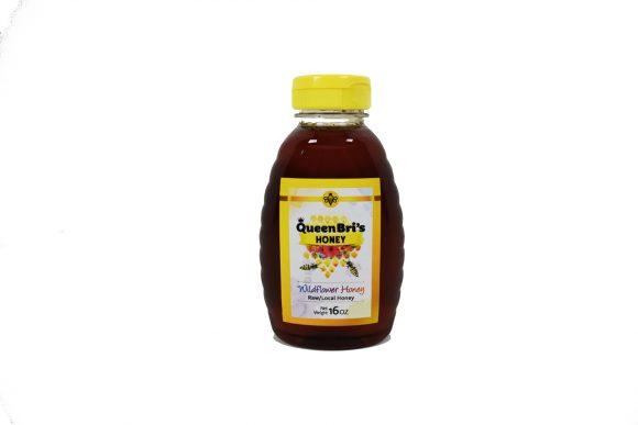 Wildflower Honey - 16 oz bottle - Queen Bris Honey